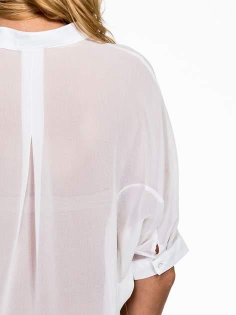 Biała koszula mgiełka z kieszonkami                                  zdj.                                  5