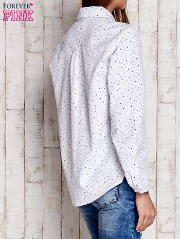 Biała koszula w drobne gwiazdki                              zdj.                              4