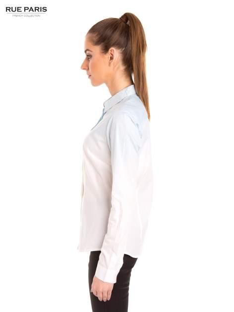 Biała koszula z efektem ombre                                  zdj.                                  3