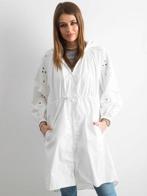 Biała kurtka z kapturem                               zdj.                              1