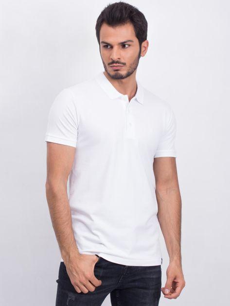 Biała męska koszulka polo Numerous                              zdj.                              1