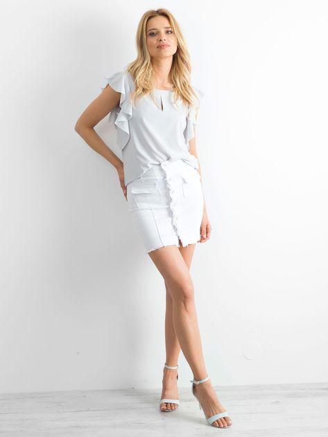 Biała spódnica Buttons                              zdj.                              4