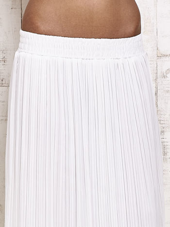 Biała spódnica maxi w plisy                                  zdj.                                  4