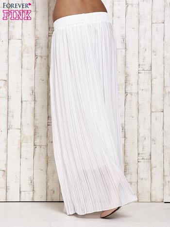 Biała spódnica maxi w plisy                                  zdj.                                  2