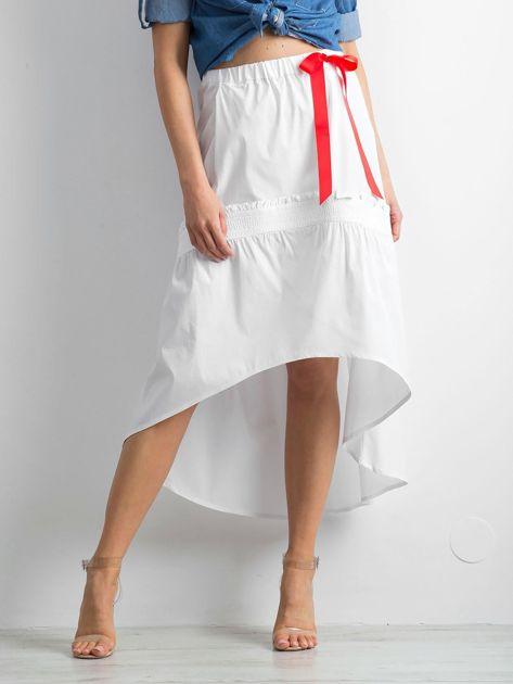Biała spódnica z troczkami BY O LA LA                              zdj.                              1