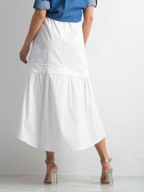Biała spódnica z troczkami BY O LA LA                              zdj.                              2