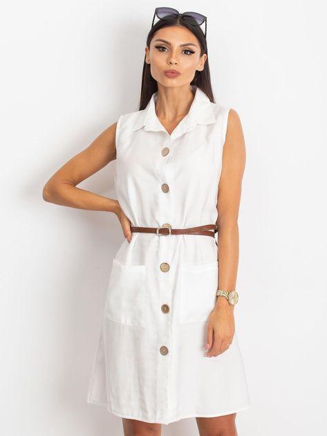 Biała sukienka Safari                              zdj.                              1
