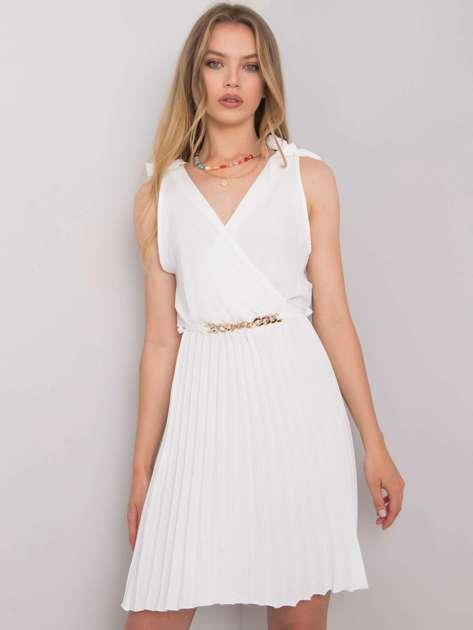 Biała sukienka na co dzień Brittany