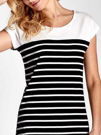 Biała sukienka w czarne paski                                  zdj.                                  6