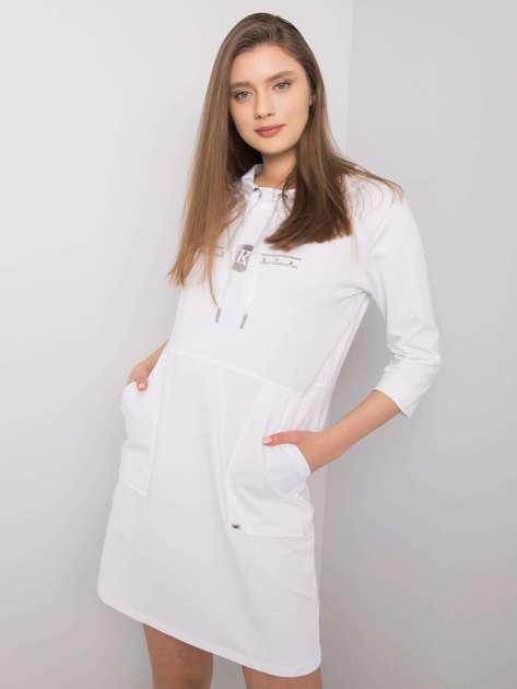 Biała sukienka z bawełny April