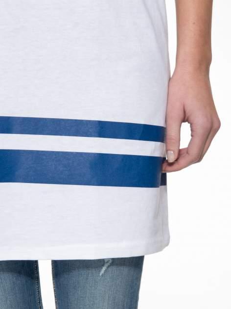 Biała sukienka z literą A w stylu baseball dress                              zdj.                              6