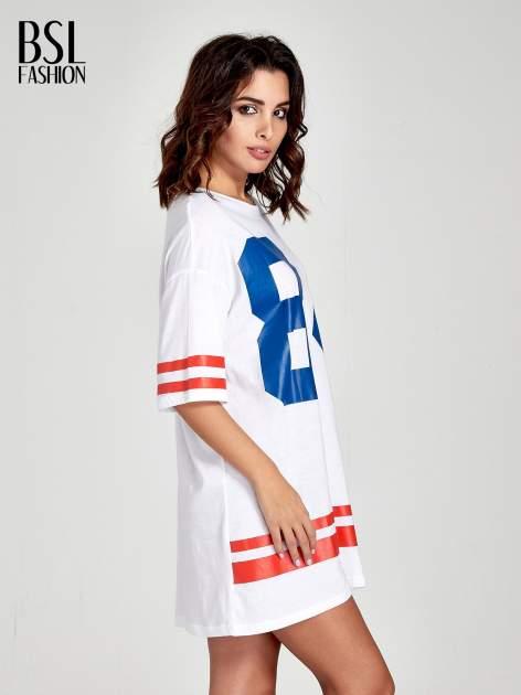 Biała sukienka z numerem w stylu baseball dress                              zdj.                              3
