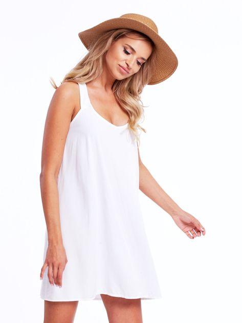 Biała sukienka z plecionymi ramiączkami                              zdj.                              5