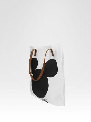 Biała torba shopper bag z motywem Mickey Mouse                                  zdj.                                  3