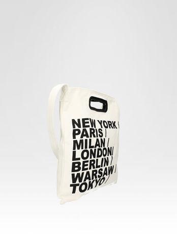 Biała torba shopper bag z printem                                  zdj.                                  3