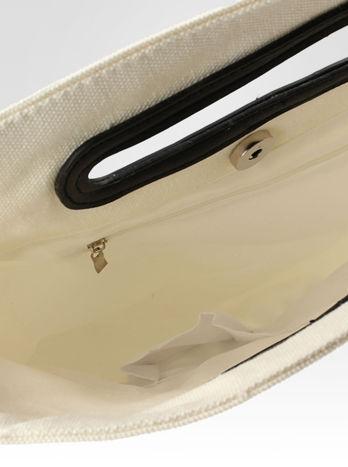 Biała torba shopper bag z printem                                  zdj.                                  8