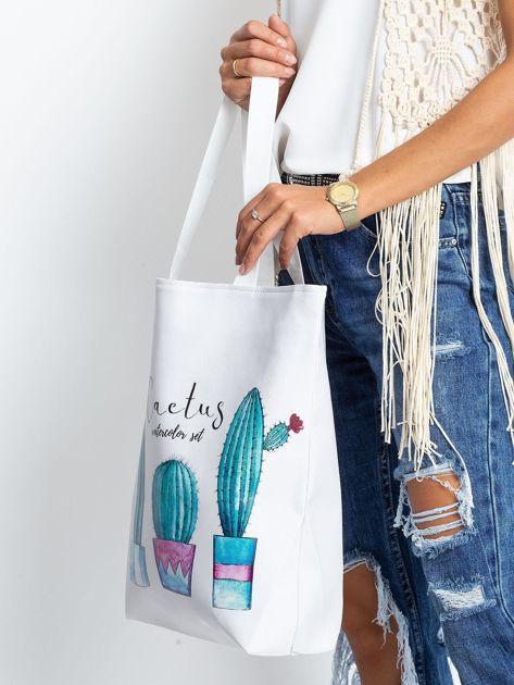 Biała torba w kaktusy                              zdj.                              3