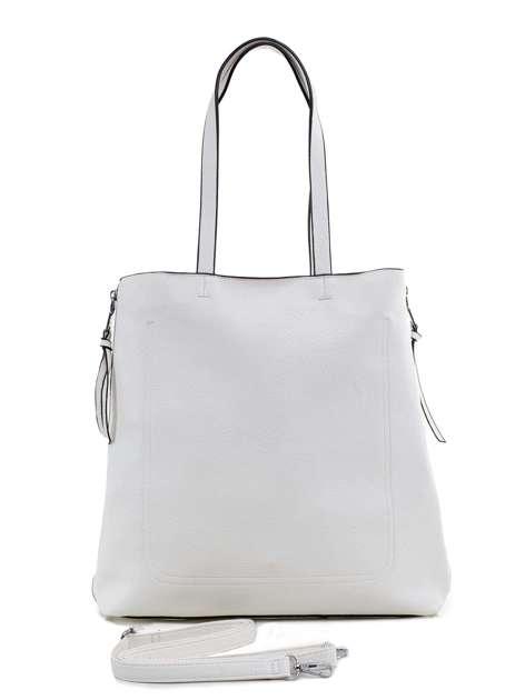 Biała torba ze skóry ekologicznej