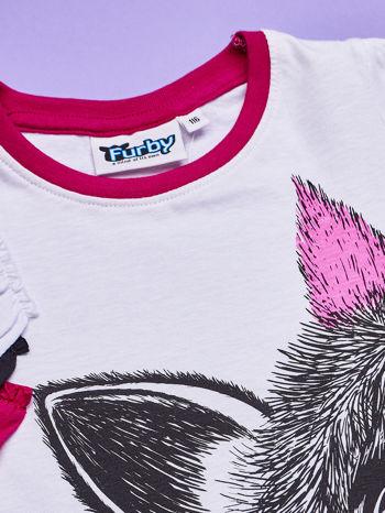 Biała tunika dla dziewczynki z nadrukiem FURBY                                  zdj.                                  5