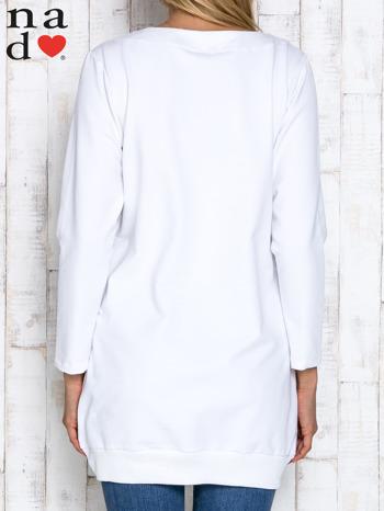 Biała tunika z kieszeniami                                  zdj.                                  4