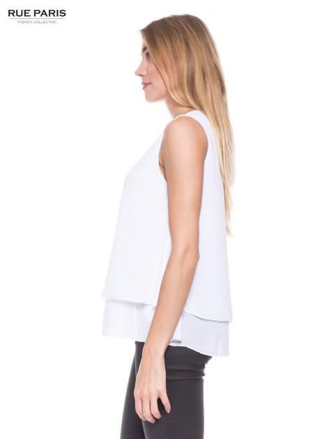 Biała zwiewna koszula dwuwarstwowa                                  zdj.                                  2