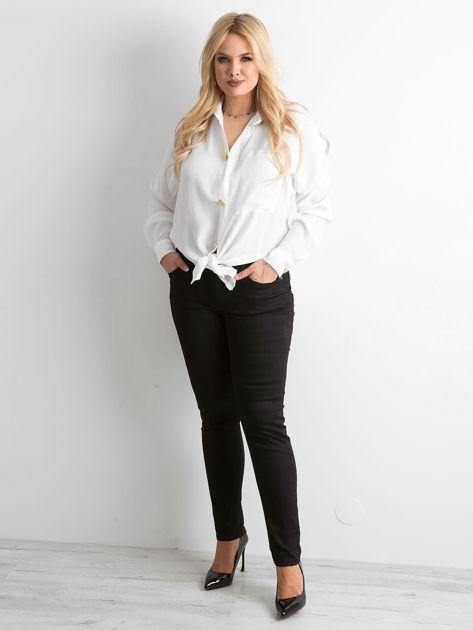 Biała zwiewna koszula oversize                              zdj.                              4