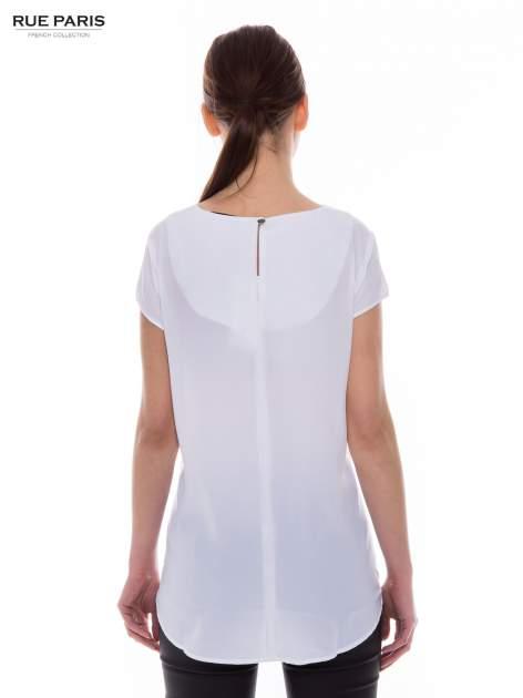 Biała zwiewna koszula z dłuższym tyłem                                  zdj.                                  2