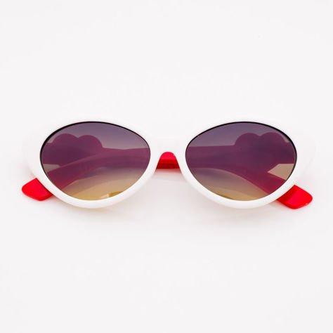 Białe Dziecięce Okulary przeciwsłoneczne                               zdj.                              1