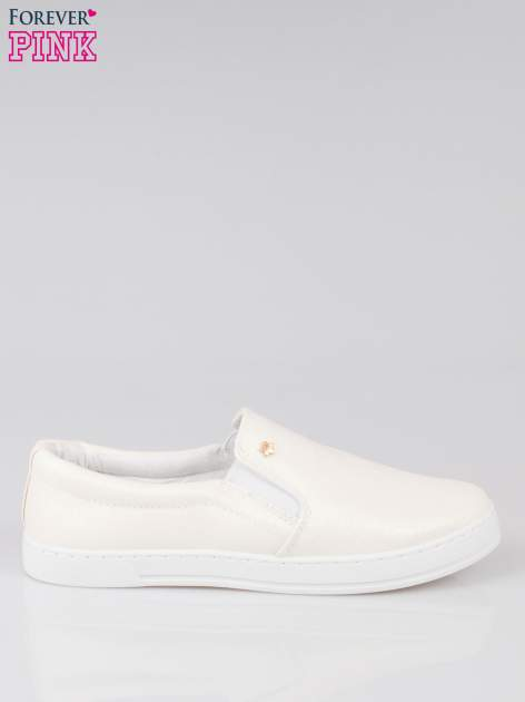 Białe buty sliponki glitter                                  zdj.                                  1