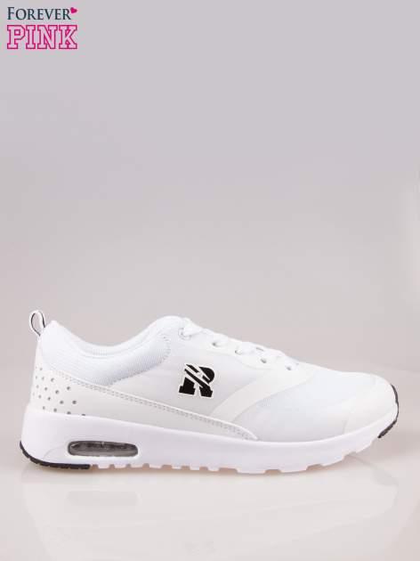 Białe buty sportowe damskie z siateczką i poduszką powietrzną w podeszwie