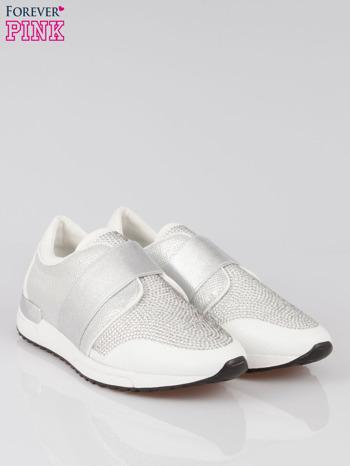 Białe buty sportowe textile Troublemaker z dżetami                                  zdj.                                  2
