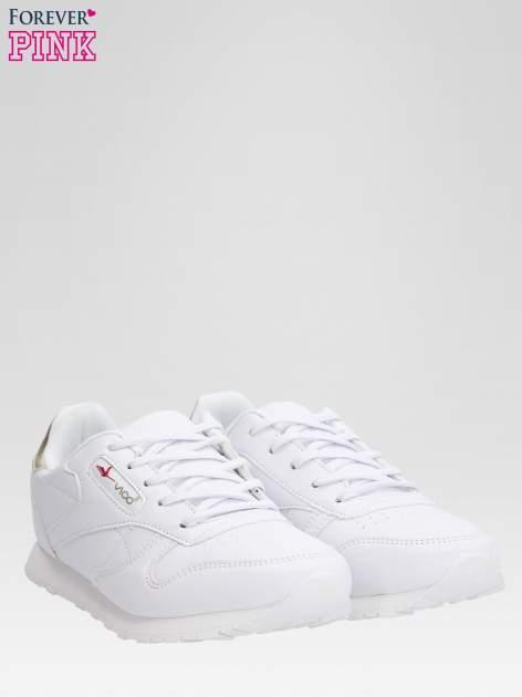 Białe buty sportowe ze złotym zapiętkiem                                  zdj.                                  2