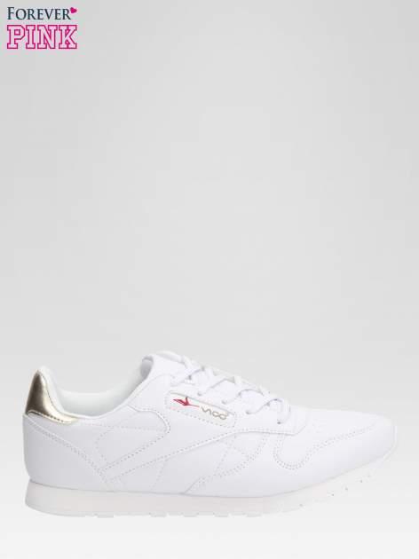 Białe buty sportowe ze złotym zapiętkiem                                  zdj.                                  1