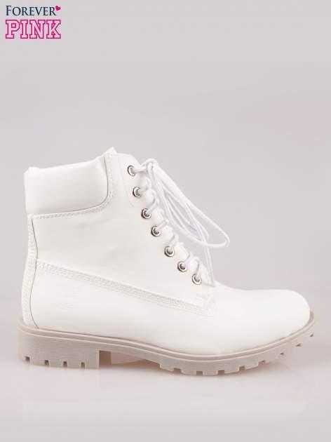 Białe buty trekkingowe damskie