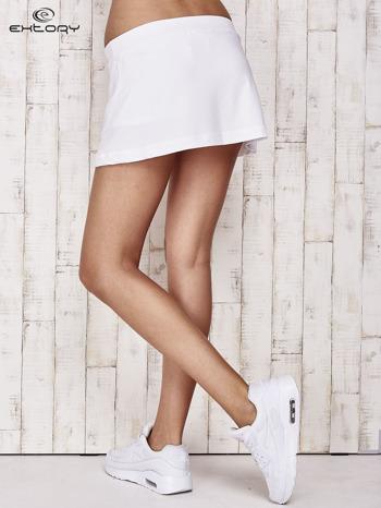 Białe gładkie spodenki spódniczka tenisowa                                   zdj.                                  2
