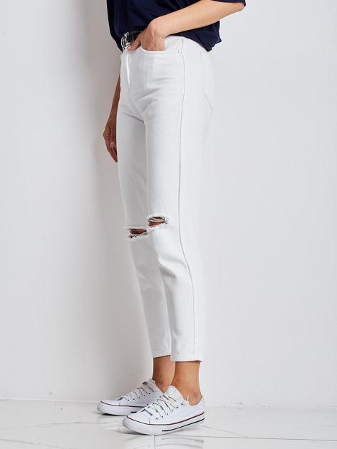 Białe jeansy Ithaca                              zdj.                              5
