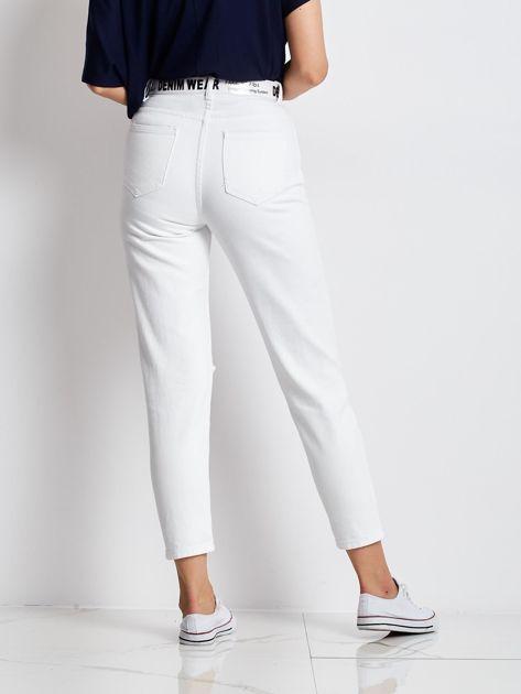 Białe jeansy Ithaca                              zdj.                              2