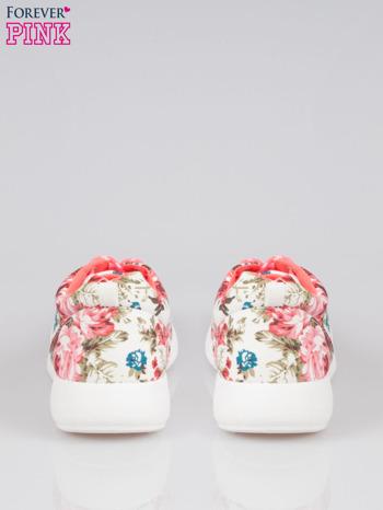 Białe kwiatowe buty sportowe Bring It On na podeszwie flex                                  zdj.                                  3