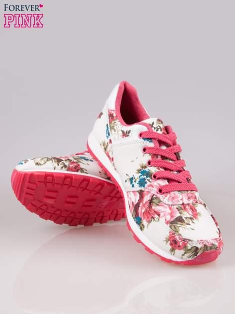 Białe kwiatowe buty sportowe Floral Fresh                                  zdj.                                  4