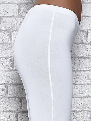 Białe legginsy sportowe termalne z patką z dżetów                                  zdj.                                  5