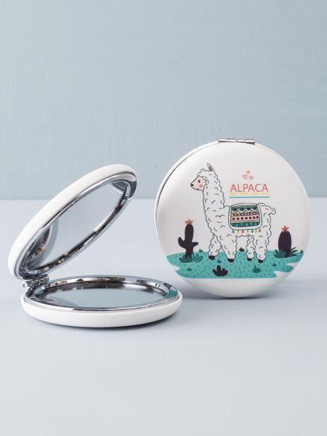 Białe okrągłe podwójne lusterko