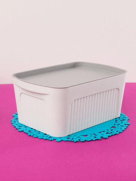 Białe pudełko z pokrywką                              zdj.                              1