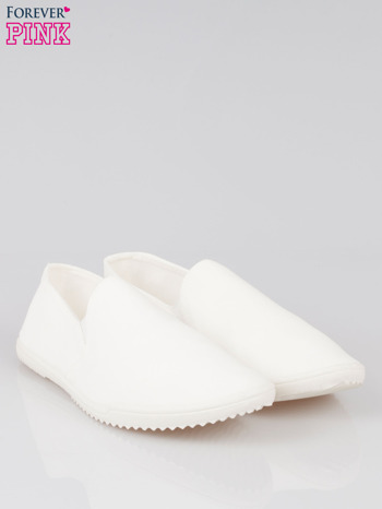 Białe sliponki na elastycznej podeszwie                                  zdj.                                  2