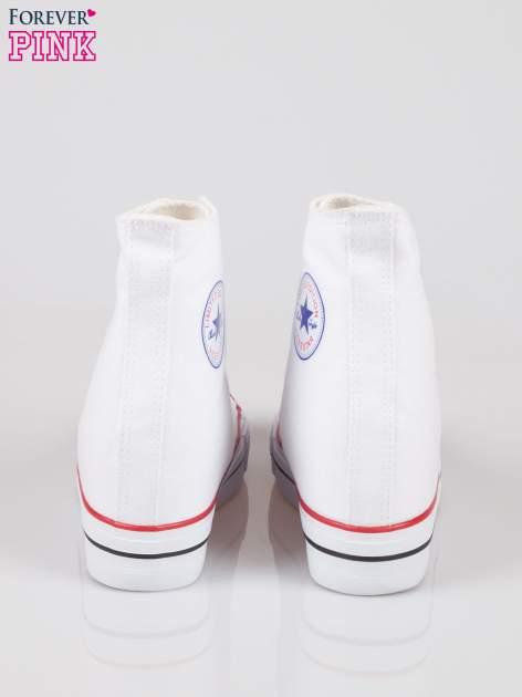 Białe sneakersy trampki damskie na koturnie                                  zdj.                                  3