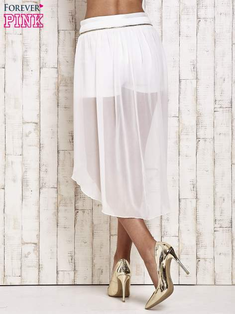 Białe spódnicospodnie z tiulowym trenem                                  zdj.                                  4