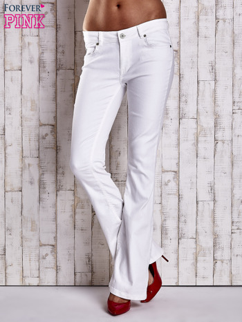 Białe spodnie jeansowe flared                                  zdj.                                  1
