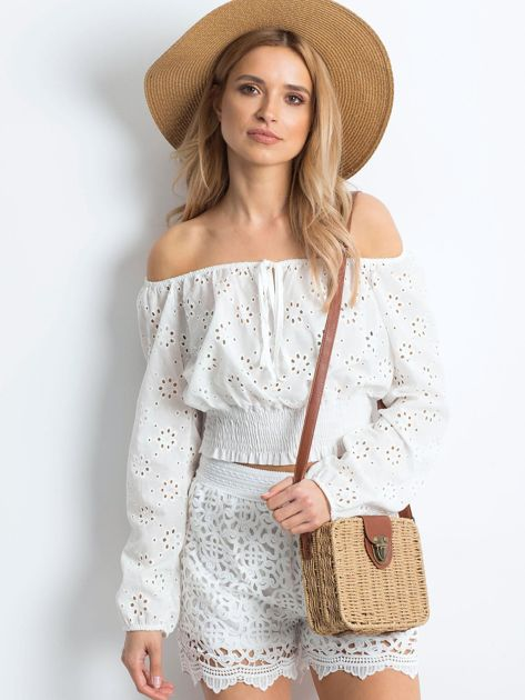 Białe szorty Crochet                              zdj.                              5