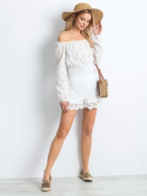 Białe szorty Crochet                              zdj.                              4