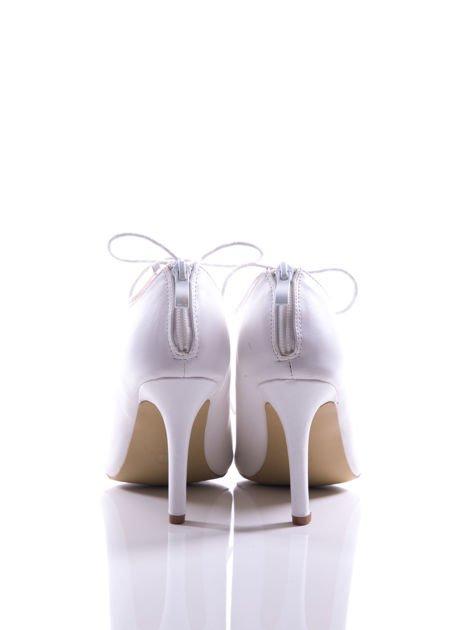 Białe wiązane sandały typu gladiatorki Dion                                  zdj.                                  4