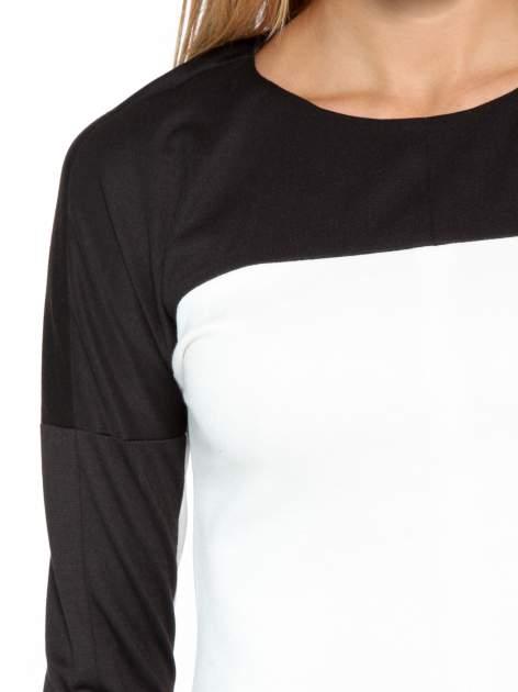 Biało-czarna bluzka modułowa                                  zdj.                                  6